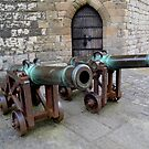 Cannons at Caernarfon Castle by Photography  by Mathilde