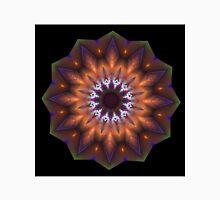 Bronze Accentuated Mandala Flower, art-deco Unisex T-Shirt