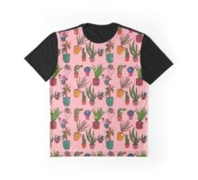 Potted Plant Pattern Graphic T-Shirt