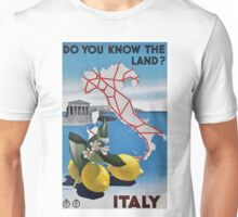 Vintage Italy Travel Poster Unisex T-Shirt