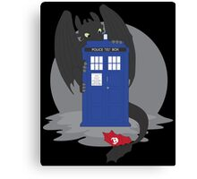 Toothless TARDIS Canvas Print