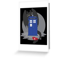 Toothless TARDIS Greeting Card