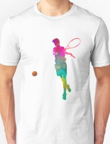 Man tennis player 01 in watercolor Unisex T-Shirt