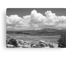 Salt Valley Overlook with La Sal Mountains BW Canvas Print