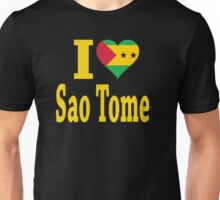 I Love Sao Tome Flag t-shirt Unisex T-Shirt