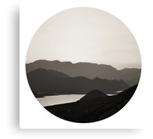 Mountains And A Lake Canvas Print