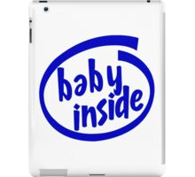 Baby Inside Cool Pregnancy iPad Case/Skin