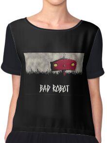 Bad Robot Lost Alcatraz Revolution Film CHARCOAL Chiffon Top