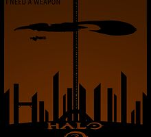 Minimalist Halo 2 Poster by Jordan Garvey