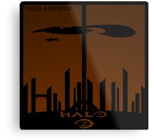 Minimalist Halo 2 Poster Metal Print