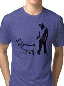 Banksy Walking The Dog Tri-blend T-Shirt