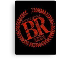 BATTLE ROYALE Logo movie dvd comic book Canvas Print