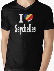 I Love Seychelles Flag t-shirt Mens V-Neck T-Shirt