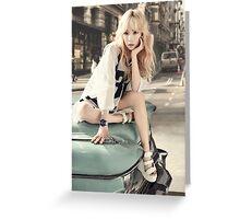 girls generation taeyeon Greeting Card