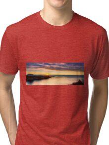 Sunrise at La Illeta dels Banyets panorama Tri-blend T-Shirt