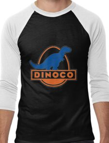 Dinoco Sky Blue Childrens Men's Baseball ¾ T-Shirt