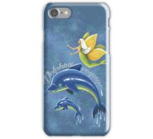 Dolphins voyage - acrylic painting iPhone Case/Skin