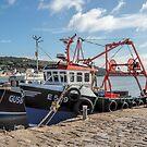 Fishing Boats At Lyme Regis Harbour by Susie Peek