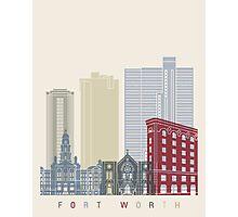 Fort Worth skyline poster Photographic Print