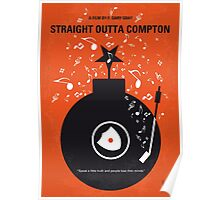 No422 My Straight Outta Compton minimal movie poster Poster