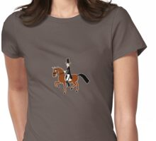 Dressage Pony T-Shirt (Passage) Womens Fitted T-Shirt