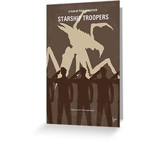 No424 My Starship Troopers minimal movie poster Greeting Card