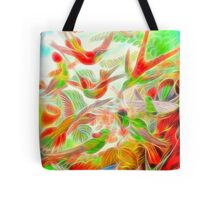 Plants & Animals, humming bird, rainforest, hummingbirds, psychedelic, art, illustration, haeckel,  Tote Bag