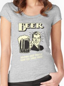 Beer Helping Ugly People Women's Fitted Scoop T-Shirt