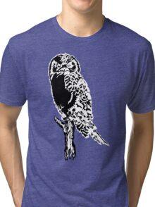 Owl Silhouette Tri-blend T-Shirt
