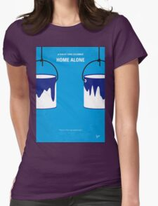 No427 My Home alone minimal movie poster Womens Fitted T-Shirt