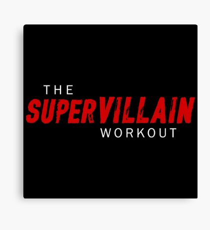 Supervillain Workout Canvas Print