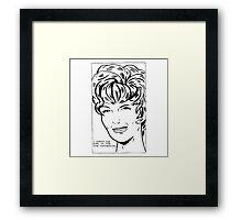 Pettibon Wig Framed Print