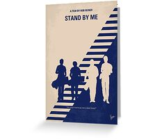 No429 My Stand by me minimal movie poster Greeting Card