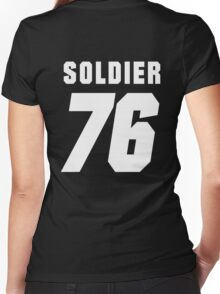Soldier 76 Women's Fitted V-Neck T-Shirt