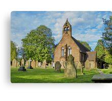 Church in Cheshire, England Canvas Print