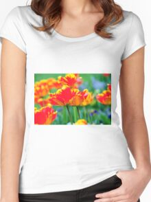 TULPENFELD Women's Fitted Scoop T-Shirt