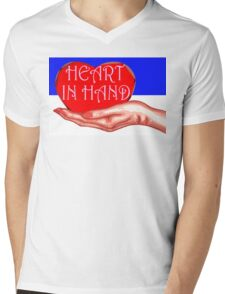 HEART IN HAND Mens V-Neck T-Shirt