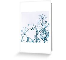 Blue Botanical Abstract Greeting Card