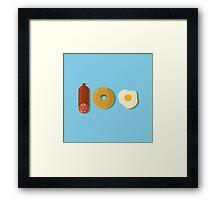 100% foodie Framed Print