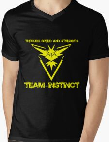 Team Instinct Through Speed And Strength Pokemon Go Merchandise Mens V-Neck T-Shirt