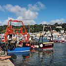 Fishing Boats At Lyme Regis Harbour 2 by Susie Peek