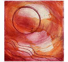 Orange Moon Photographic Print