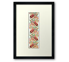 Ukulele Pattern (White) Framed Print