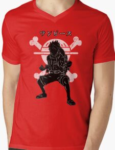 Pirate's King - Luffy version 2 Mens V-Neck T-Shirt