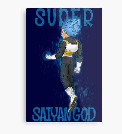 SUPER SAIYAN GOD Metal Print