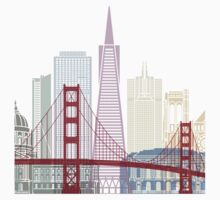 San Francisco skyline poster Kids Tee