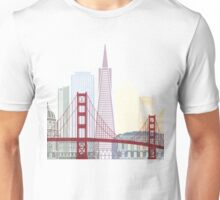 San Francisco skyline poster Unisex T-Shirt