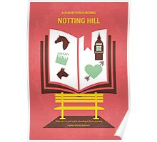 No434 My Notting Hill minimal movie poster Poster