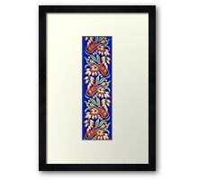 Ukulele Pattern (Blue) Framed Print