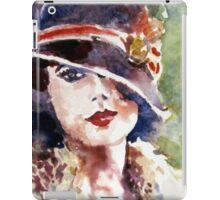 portrait a lady in a hat iPad Case/Skin